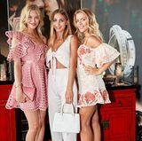 Stattdessen kam Ann-Kathrin Brömmel mit ihren Freundinnen Mandy Bork und Ina Aogo.