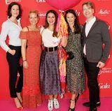 "Die volle Ladung ""GALA Fashion Brunch introducting The Fashion Hub"": Marianne Radel (The Swatch Group), Saskia Griesbach (stellvertretender Director Brand Solutions GALA), Annika Hofmann (Aigner), Doris Brückner (Gala.de-Chefredakteurin) und Frank Vogel (EMS)."