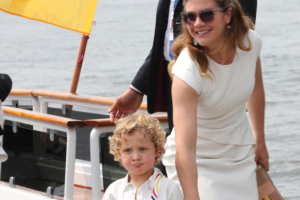 Sophie Grégoire, Ehefrau von Justin Trudeau, und Sohn Hadrien