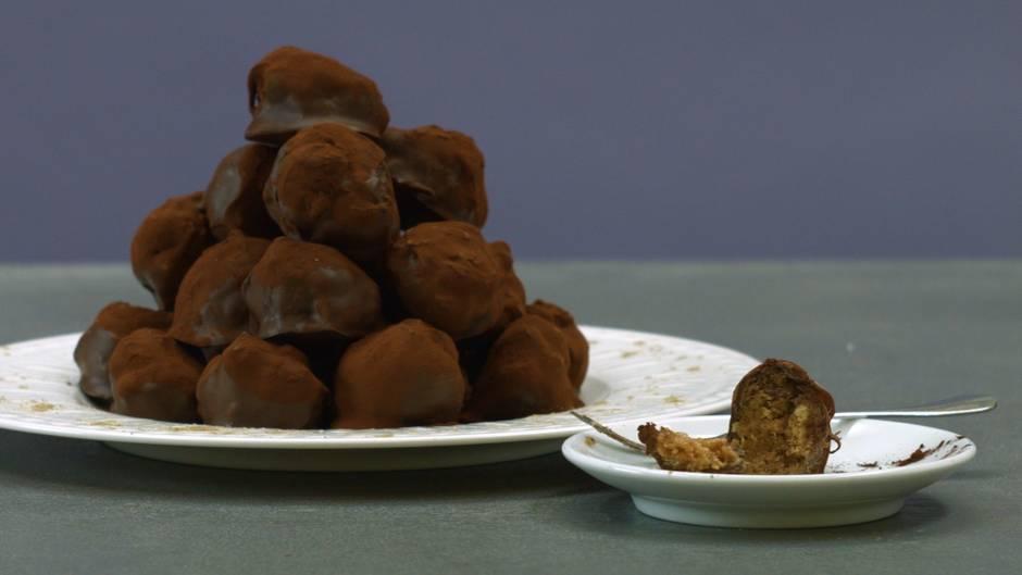 Süßer Happen : Schokoladige Banoffee-Kugeln