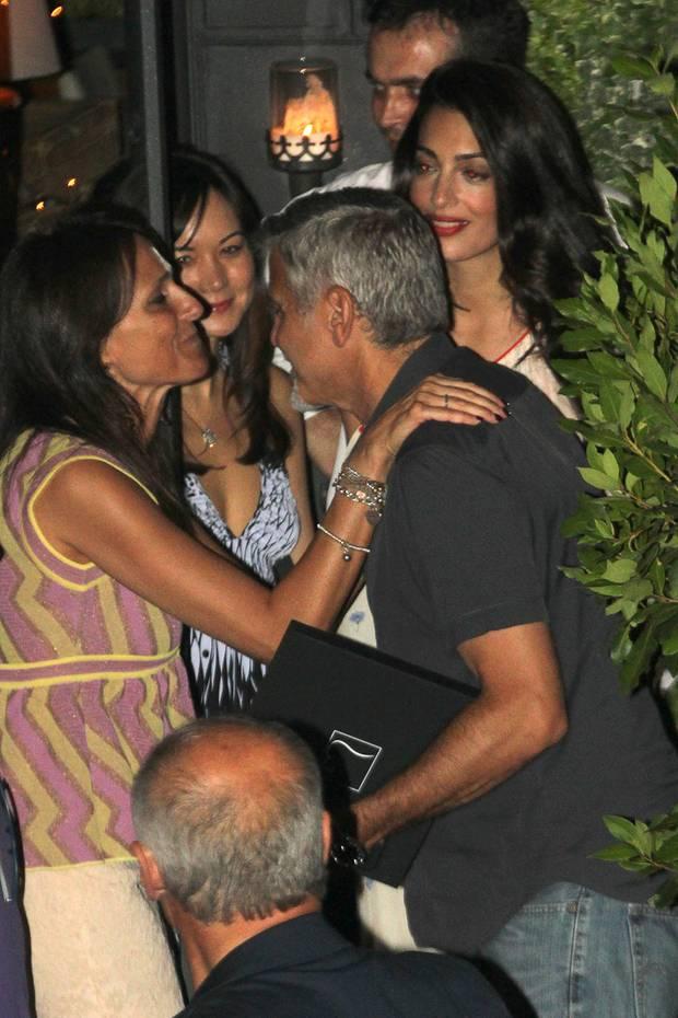 George Clooney und Ehefrau Amal.