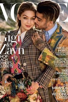 15. Juli 2107  Gigi Hadid ziert gemeinsam mit ihrem Freund Zayn Malik das August-Cover der Vogue.