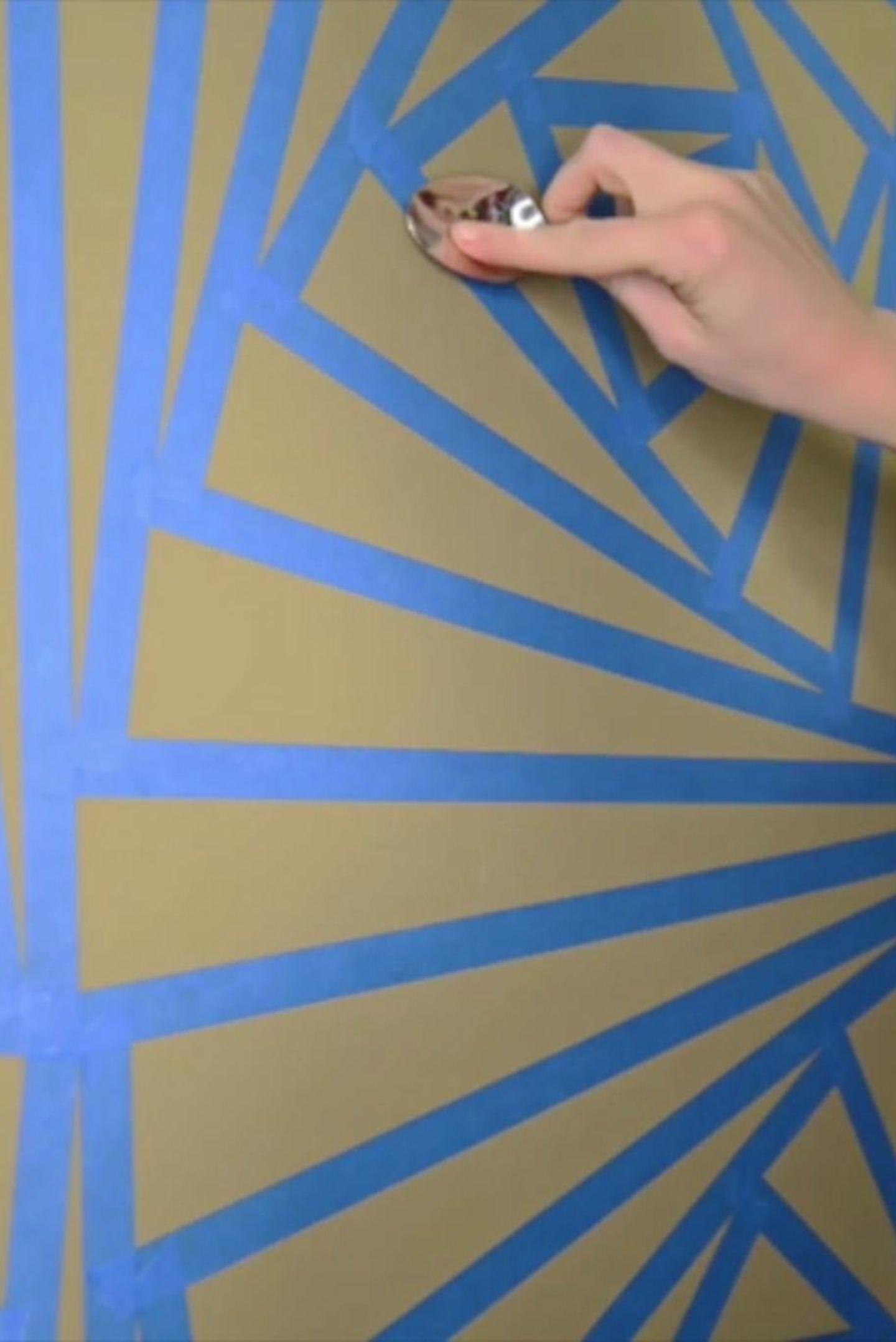 Wandbemalung Geometrisches Muster Godoit Ch 11