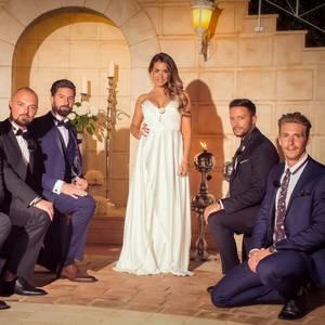Jessica mit Johannes, Niklas, Sebastian, Domenico und David