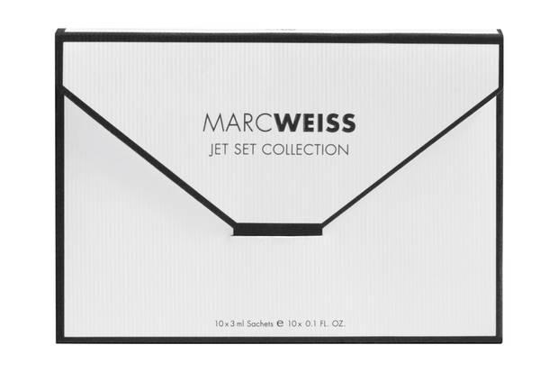 """Gesichtspflege-Sachets für fünf Tage: """"Jet Set Collection"""" von Marc Weiss, ca. 40 Euro"""