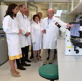 Im Labor des Gesundheitszentrum für Krebsforschung geht es anschließend zwar ruhiger, aber mindestens genau so spannend zu.