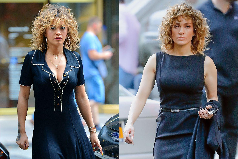 Die sonst eher flippige Rita Ora fühlt sich scheinbar durch den besonderen Look von Jennifer Lopez inspiriert und könnte glatt als ihre Zwillingsschwester durchgehen.
