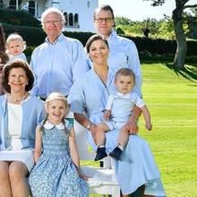 Die königliche Familie aus Schweden