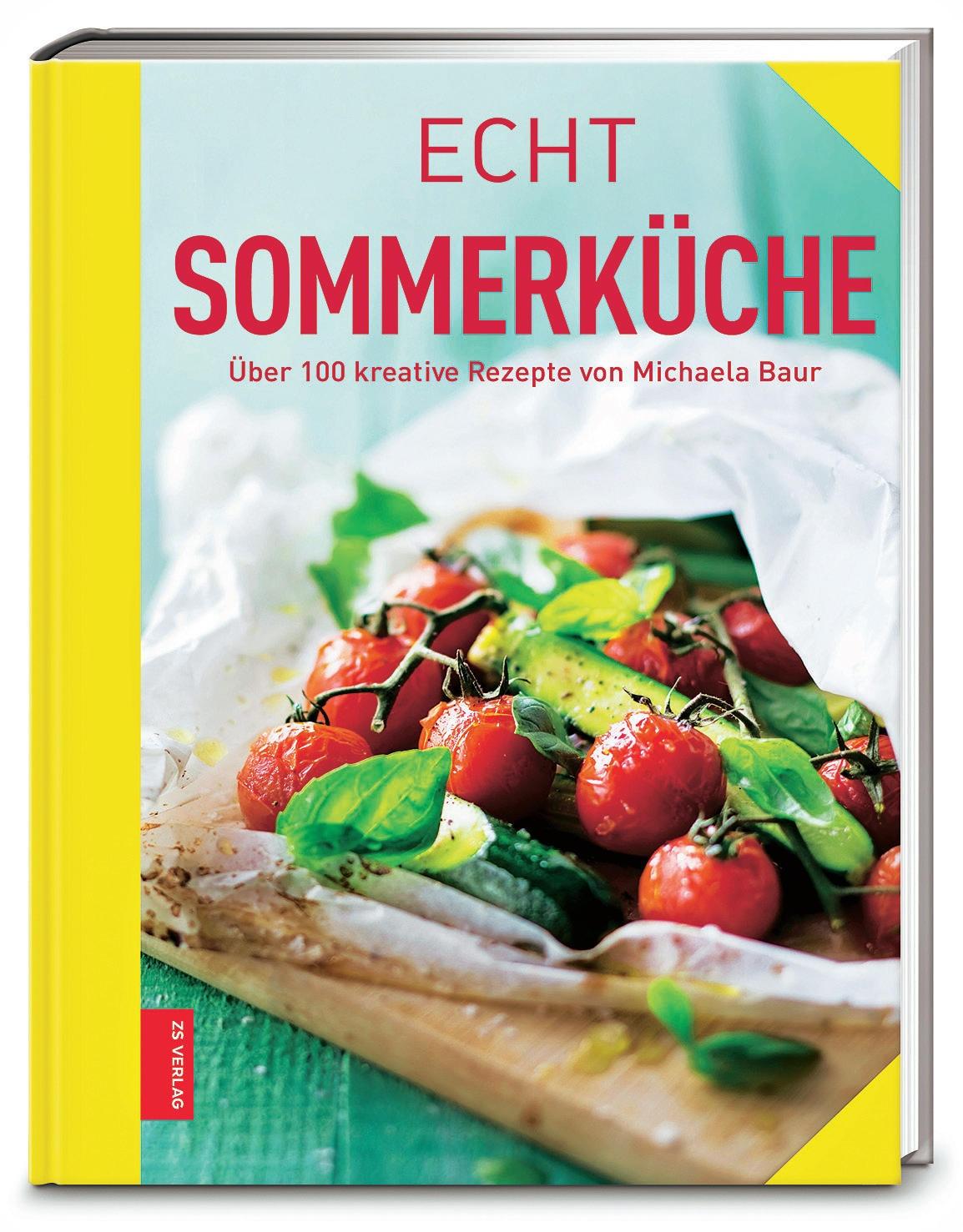 """Hier schmeckt alles nach Sonne und Urlaub. Mehr als 100 leichte Genüsse sind in diesem Buch versammelt, von Salaten mit Wildkräutern und Blüten über kalte Suppen und Grillgemüse bis zu Kompott und Konfitüren – so kann man den Sommer in Gläser füllen. (""""Echt Sommerküche"""", ZS Verlag, 170 S., 9,99 Euro)"""