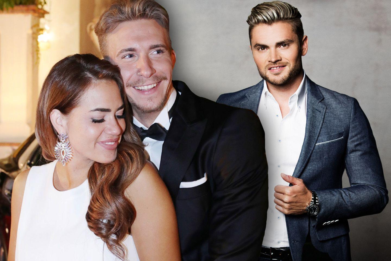 Jessica Paszka mit ihrem Auserwählten David und Finalist Johannes
