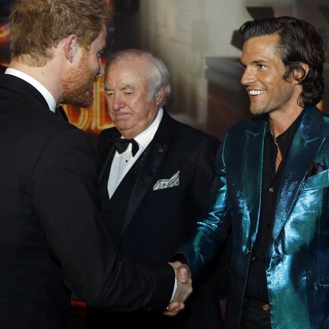 Prinz Harry mit The-Killers-Sänger Brandon Flowers