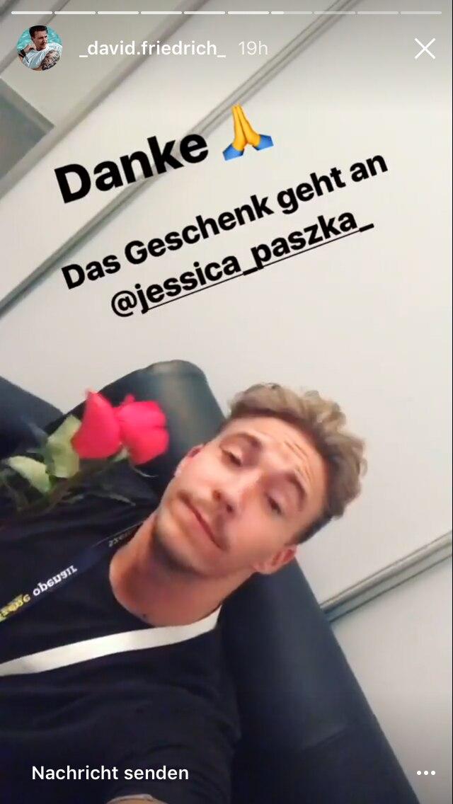 """""""Rosenkavalier"""" David denkt an seine Jessi"""
