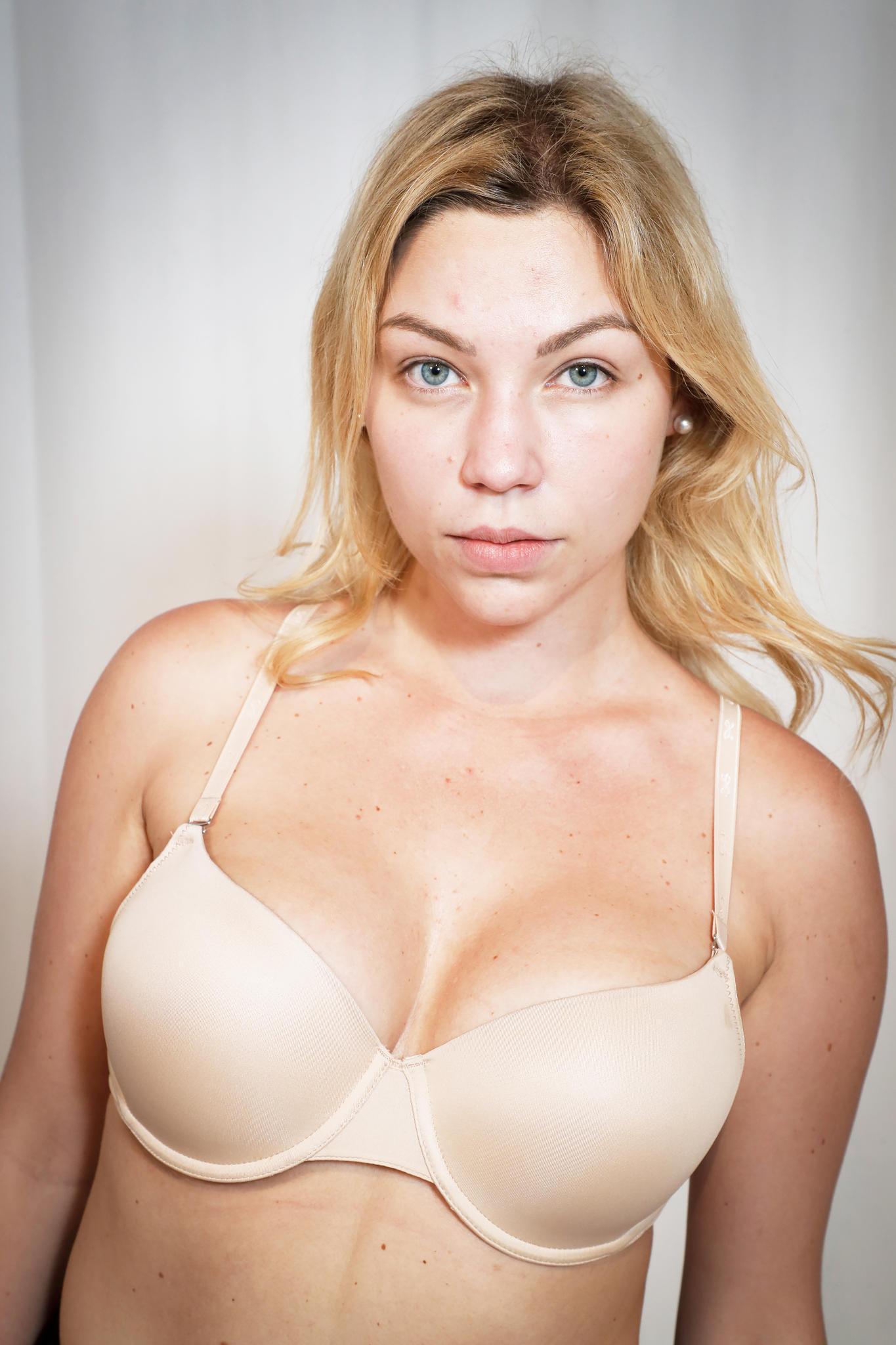 """Vorher: """"Curvy Supermodel""""-Kandidatin Bianca mit blonder Mähne"""