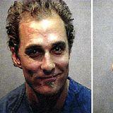 Matthew McConaughey  Austin, Texas im Oktober 1999: Nachdem ein Nachbar des Schauspielers sich bei der Polizei über Lärm beschwert, treffen die Beamten auf einen tanzenden, Bongotrommel spielenden Matthew McConaughey. Passend zu der Szene wird auch Marihuana sichergestellt. Die gegen ihn erhobene Anklage wegen Drogenbesitzes wird später fallen gelassen; Der Hollywoodstar muss lediglich 50 Dollar Strafe wegen Ruhestörung zahlen.
