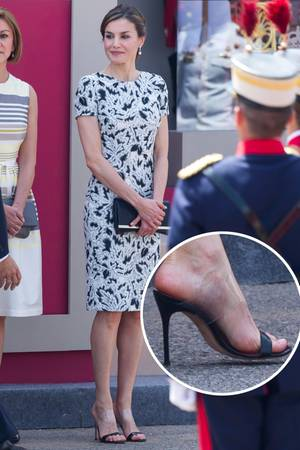 """Königin Letizia liegt mit ihren """"Naked Heels"""" voll im Trend."""
