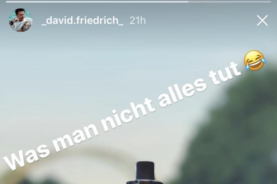 David Friedrichs Insta-Story
