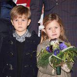 2016  Vincent und Josephine lauschen andächtig einem Weihnachtskonzert mit Lucia-Umzug, das sie mit ihrer Familie in Kopenhagen besuchen.