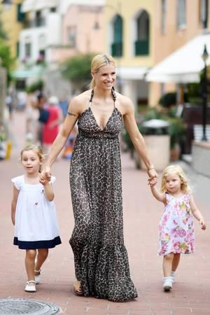 Michelle Hunziker mit ihren Töchtern Celeste und Sole