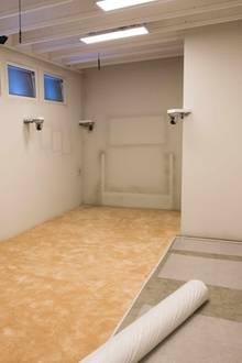 Das Schlafzimmer: Von Betten ist hier keine Spur, nicht einmal Matratzen liegen auf dem Boden.