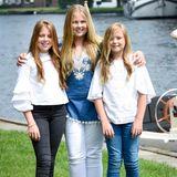Schwestern-Shooting in den Niederlanden: Prinzessin Ariane, Prinzessin Alexiaund Prinzessin Amalia posieren gemeinsam für die alljährlichen Aufnahmen der royalen Familie.