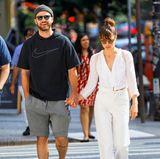 13. August 2017  Hand in Hand sind Justin Timberlake und Jessica Biel in New York auf dem Weg zum Brunch ...