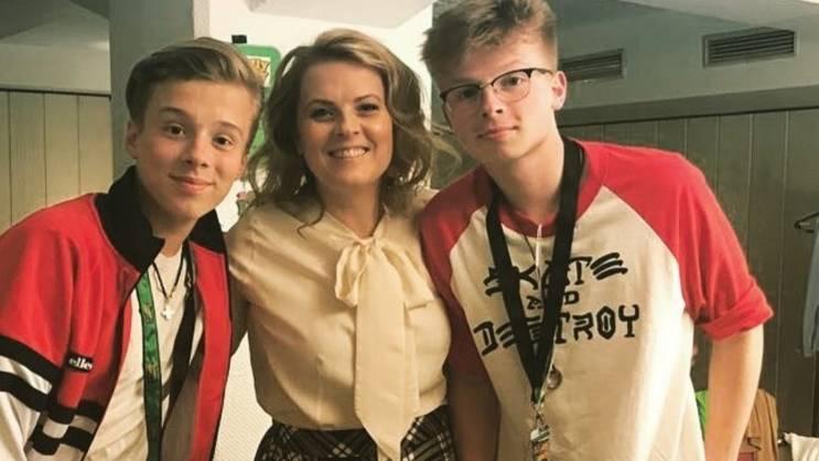 Patricia Kelly mit ihren Söhnen Iggi und Alexander