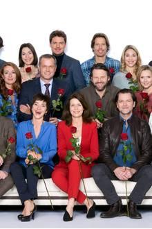 """Der Cast der 14. Staffel von """"Rote Rosen"""". Täglich schauen im Schnitt 1,52 Millionen Zuschauer zu - ein toller Marktanteil von 14,8 Prozent"""