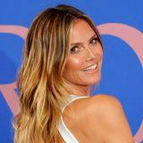 Mit natürlich schöner, langer Mähne strahlte Heidi Klum bei den CFDA Awards in New York.