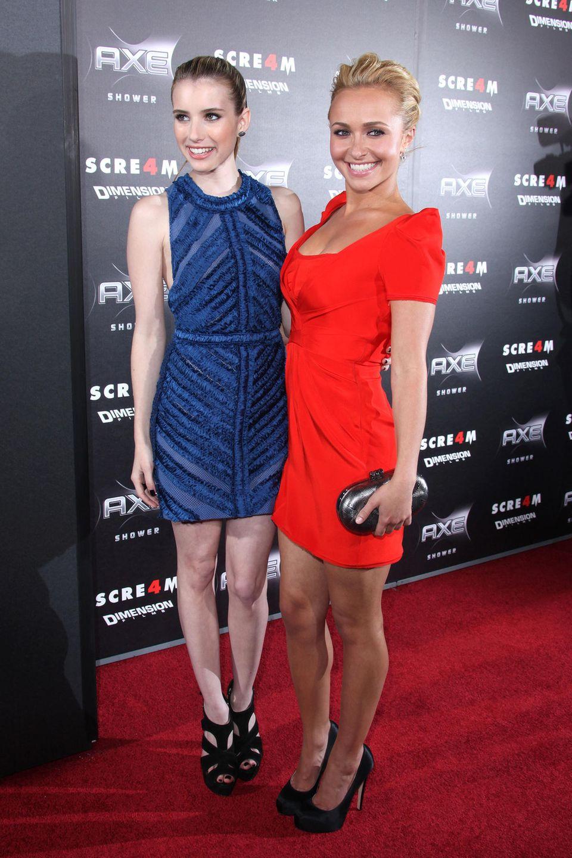 """Emma Roberts und Hayden Pannettiere   Spätestens ab dem Kinoklamauk-Streifen """"Scary Movie 4"""", in dem beide mitspielten, verbindet die beiden hübschen Damen eine enge Freundschaft."""