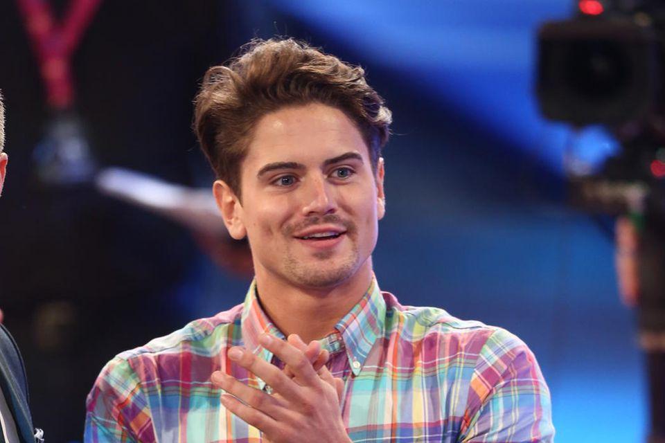 """Dominik Bruntner beim Finale von """"Promi Big Brother"""""""