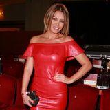 """Was für ein Look! Bei der """"Nacht der Legenden 2017"""" zeigt Sabia Boulahrouz in einem knappen, roten Lederkleid ihre tolle Figur."""
