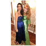 Elegant und zugleich verführerisch zeigt sich Amal einen Tag zuvor in einem Dessous-Kleid von Missoni.