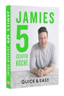 """Das Kochbuch zur Sendung: """"Jamies 5-Zutaten- Küche: Quick & Easy"""" (Dorling Kindersley, 320 S., 26,95 Euro)"""
