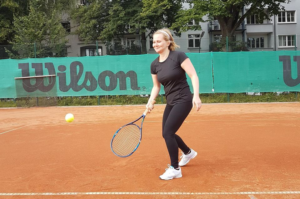Beim Tennis