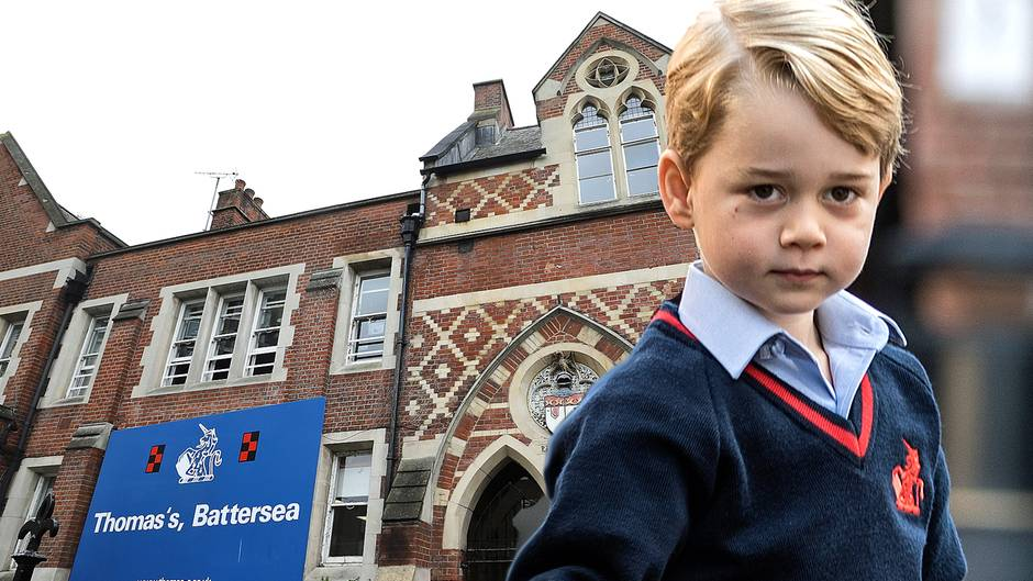 Prinz George besucht die Thomas's Battersea School in London