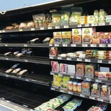 Veganes Essen bleibt im Regal