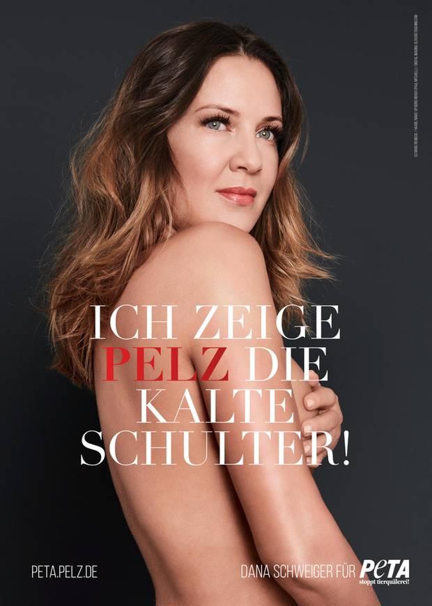 Dana Schweiger zeigt Pelz die kalte Schulter. Für die Tierschutzorganisation lässt die Ex-Frau von Till Schweiger gerne die Hüllen fallen.