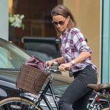 Pippa Middleton zeigt bei einem Fahrradausflug ihre neue Trendfrisur, den Longbob.