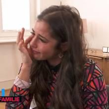 """In der RTL-II-Show """"Echt Familie - Das sind wir!"""" kann Sarah Lombard ihre Tränen nicht zurückhalten"""
