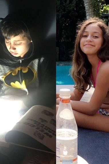 """Pop-Star Jennifer Lopez postet eine Fotocollage ihrer Kids Maximilian und Emme. """"Mein Sonnenschein und mein Mondlicht"""", postet sie zu dem Bild."""