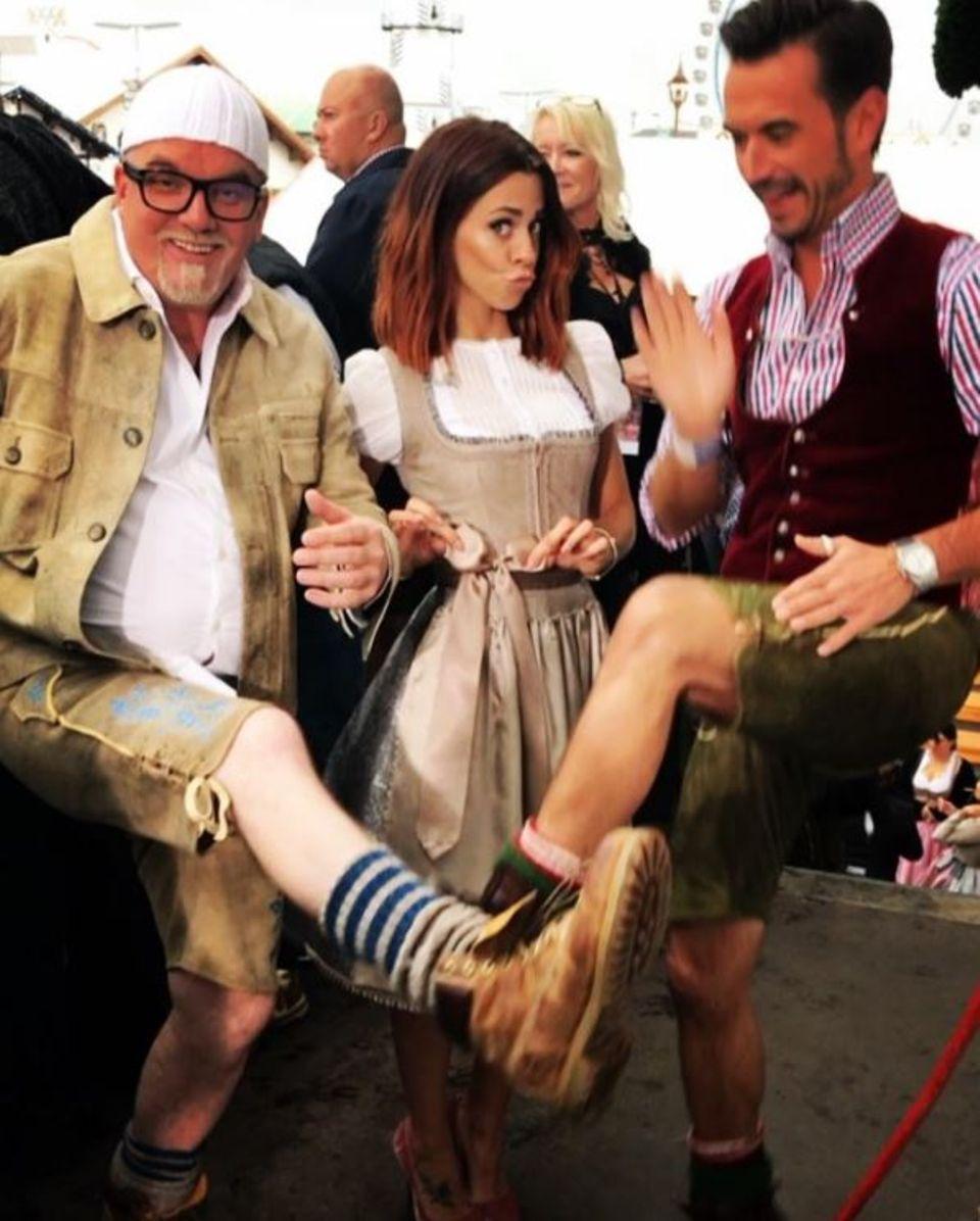 16. September 2017  DJ Ötzi, Vanessa Mai und Florian Silbereisen sind bereit für die Wiesn-Gaudi.