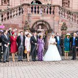 Bei einer Hochzeit darf das große Gruppenfoto nicht fehlen: Da machen die Royals keine Ausnahme.