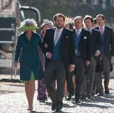 Ganz vorne und bereit für die Hochzeit: Fürstin Alexandra zu Leiningen und Ferdinand Erbprinz zu Leiningen.