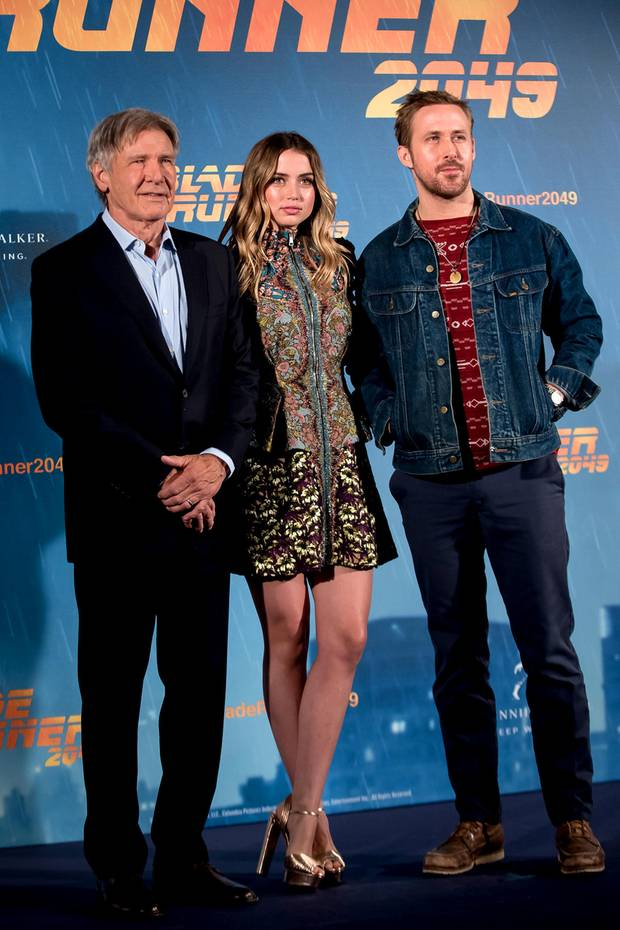 "19. September 2017  Harrison Ford, Ana de Armas und Ryan Gosling präsentieren in Madrid ihren Film ""Blade Runner 2049""."