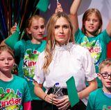 Spaßiger Kindertag in Berlin: Alena Gerber führt das Team Türkis an.