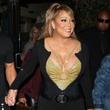 Geschnürt, gepusht und tief ausgeschnitten: Mariah Carey setzt ihre Oberweite mit Vorliebe in Szene.