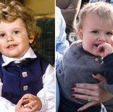 Prinz Carl Philip und Prinz Alexander  Kurz vor seinem dritten Geburtstag ist Prinz Carl Philip ein knuddeliger Lockenkopf mit braunen Kulleraugen. Sein Sohn steht ihm da im Alter von einem Jahr in Nichts nach. Einziger Unterschied: Seine süßen Löckchen sind ein paar Nuancen heller.