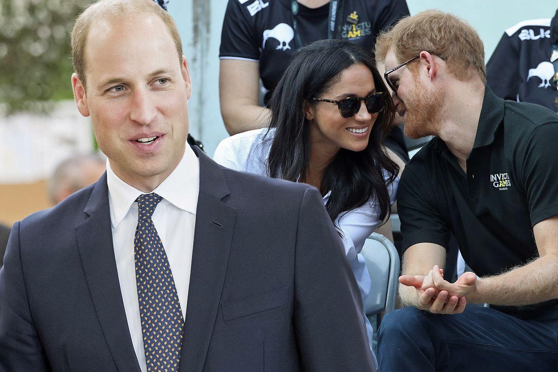 Prinz William, Meghan Markle + Prinz Harry