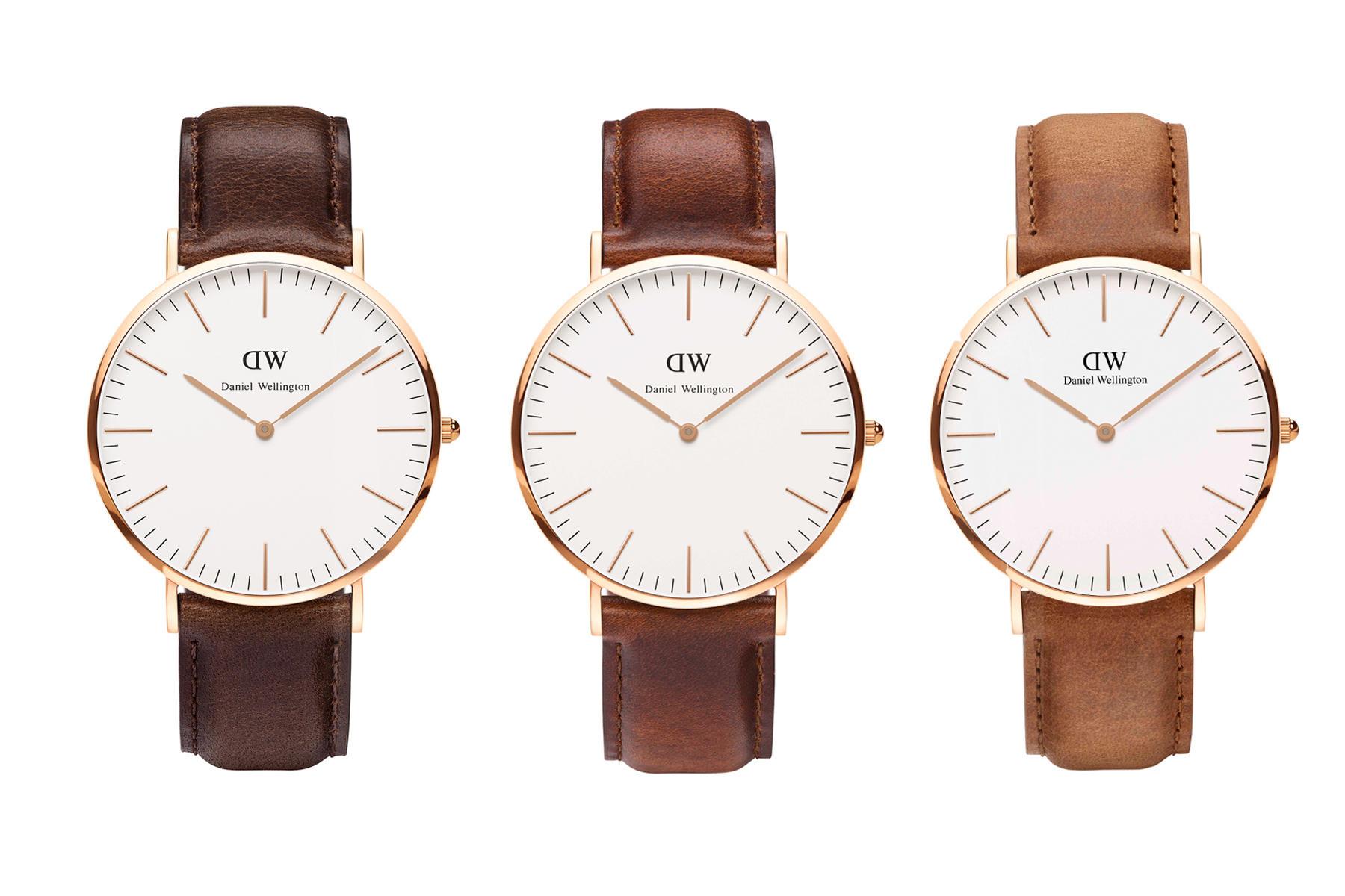 Uhren von Daniel Wellington in drei angesagten Brauntönen