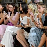 Die Front Row bei der Show von Kaviar Gauche in Paris